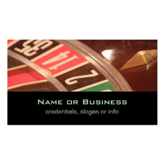 Casino Gambling Roulette Wheel Vintage Retro Style Double-Sided Standard Business Cards (Pack Of 100)