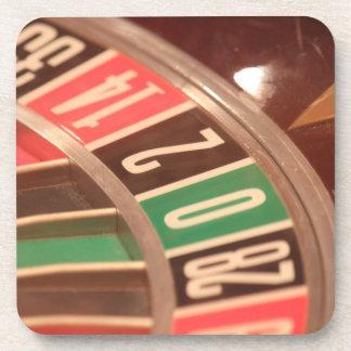 Casino Gambling Roulette Wheel Vintage Retro Style Beverage Coaster