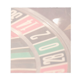 Casino Gambling Roulette Wheel Vintage Retro Style Notepad