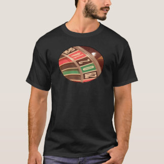 Casino Gambling Roulette Wheel Vintage Retro Style T-Shirt