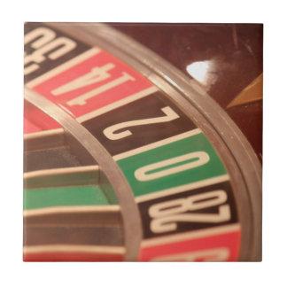 Casino Gambling Roulette Wheel Vintage Retro Style Tile