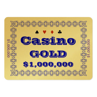 Casino ~GOLD~ Poker Chip Plaque $1M (100ct) Business Card Template