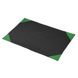 Casino Green Velvet Personalized Home Casino Cloth Placemat