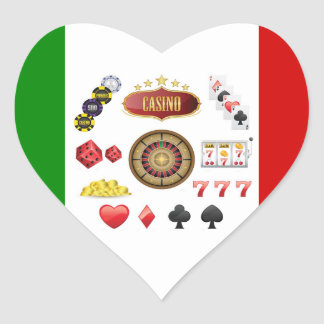 Casino Heart Sticker