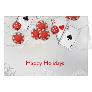 Casino Holiday Card