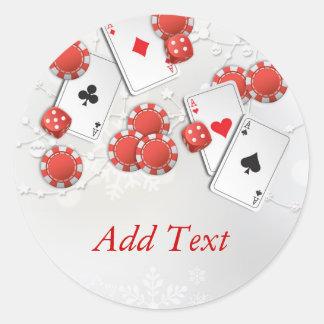 Casino Holiday Classic Round Sticker