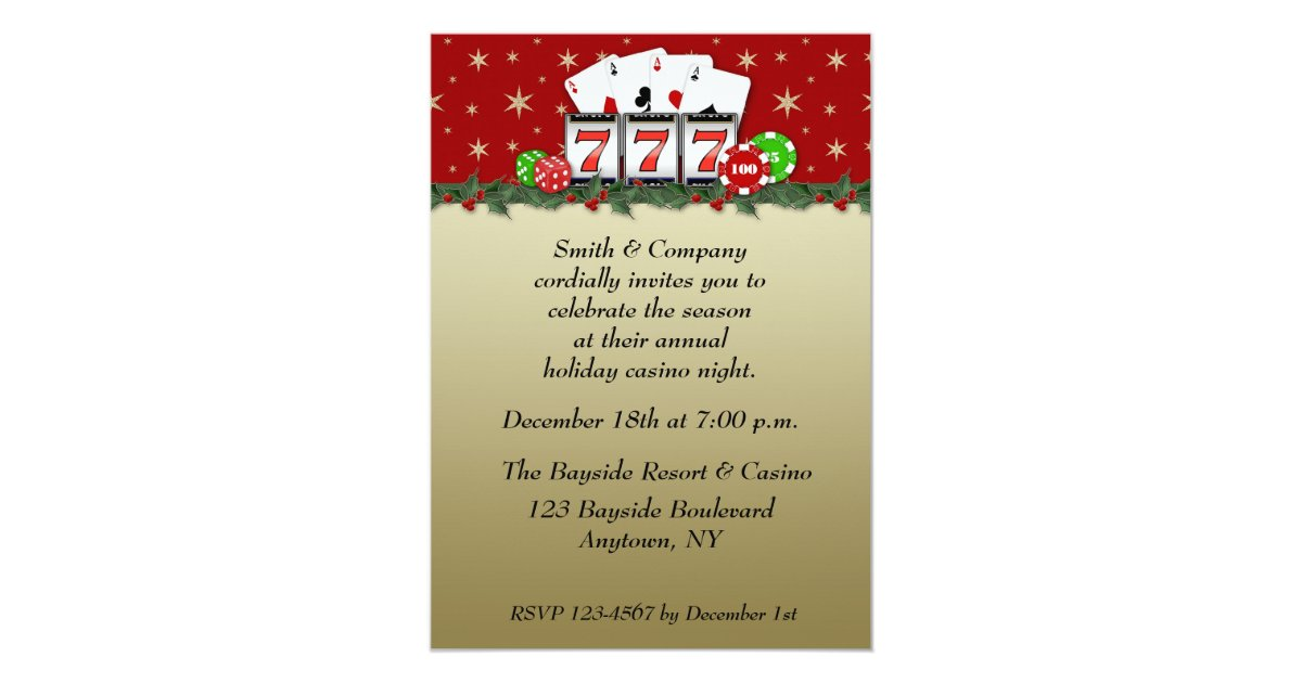 Poker Themed Invitations & Announcements | Zazzle