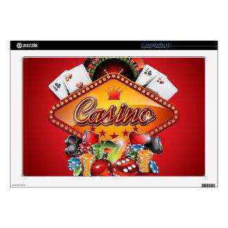 "Casino illustration with gambling elements 17"" laptop skin"