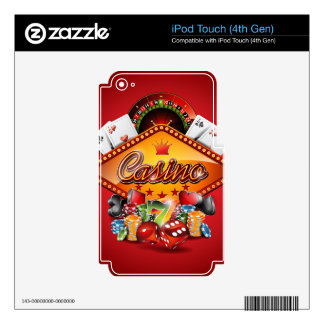 Casino illustration with gambling elements decals for iPod touch 4G