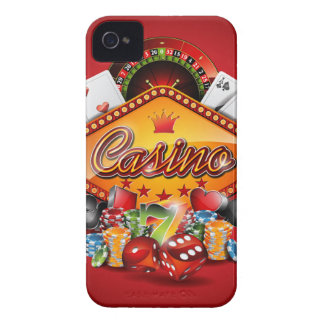 Casino illustration with gambling elements iPhone 4 Case-Mate case