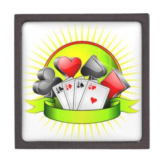 Casino illustration with gambling elements jewelry box