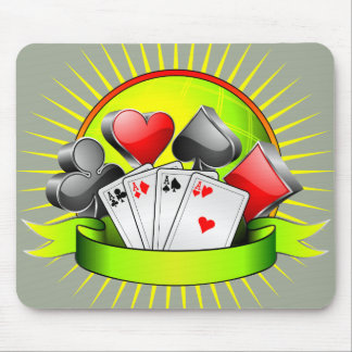 Casino illustration with gambling elements mouse pad
