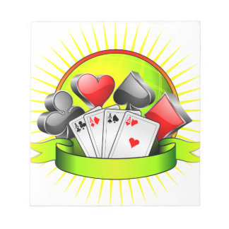 Casino illustration with gambling elements notepad