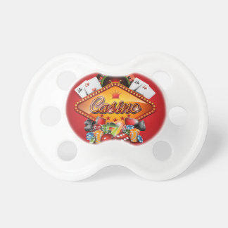 Casino illustration with gambling elements pacifier