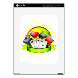 Casino illustration with gambling elements skins for iPad 3