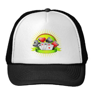 Casino illustration with gambling elements trucker hat