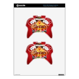 Casino illustration with gambling elements xbox 360 controller skins