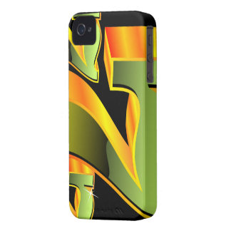 Casino illustration with green sevens. iPhone 4 Case-Mate case