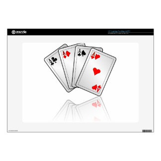 Casino illustration with poker cards aces decal for laptop