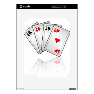 Casino illustration with poker cards aces decals for the iPad 2
