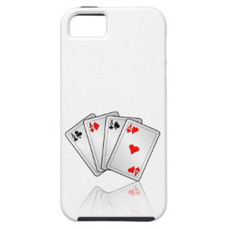 Casino illustration with poker cards aces iPhone SE/5/5s case