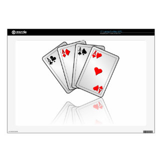 Casino illustration with poker cards aces laptop skins