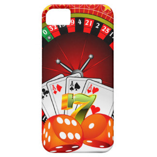Casino illustration with roulette wheel and dices iPhone SE/5/5s case
