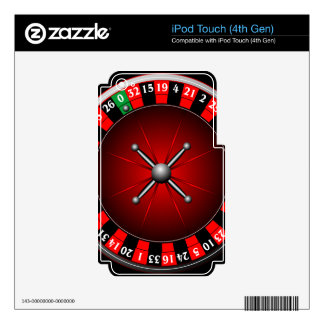 Casino illustration with roulette wheel decal for iPod touch 4G