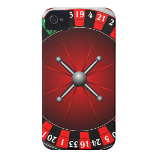 Casino illustration with roulette wheel iPhone 4 Case-Mate case