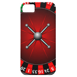Casino illustration with roulette wheel iPhone SE/5/5s case