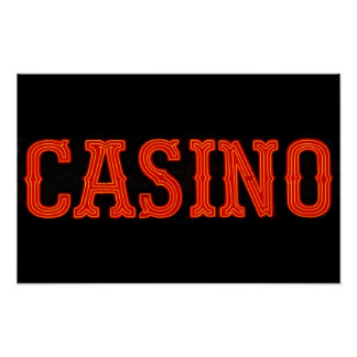 Casino in Neon Red Posters