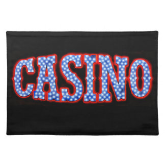 Casino in Red White & Blue Cloth Placemat
