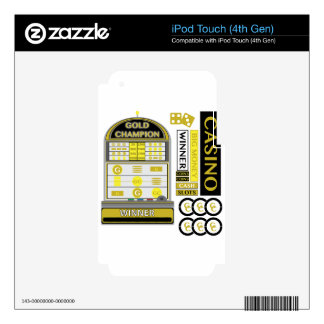 casino iPod touch 4G decal
