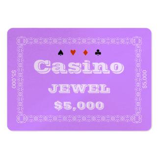 Casino ~JEWEL~ Poker Chip Plaque $5K (100ct) Business Card Templates