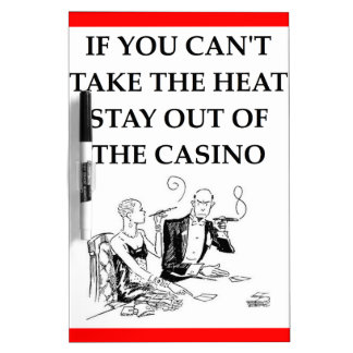 casino joke Dry-Erase whiteboard