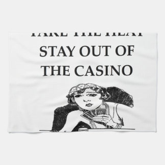 casino joke kitchen towel
