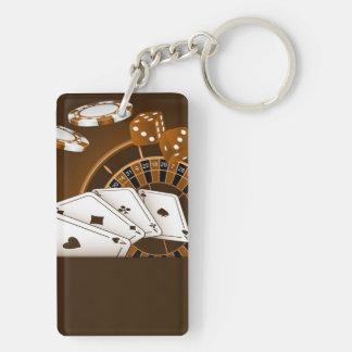 Casino Keychain. Sepia . Keychain