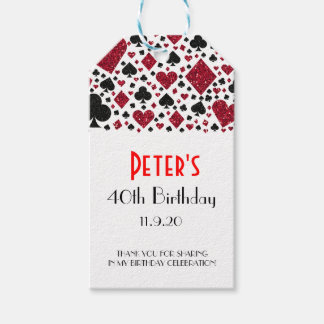 Casino Las Vegas Birthday Favor | Gift Tags
