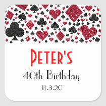 Casino Las Vegas Birthday Party Favor Labels