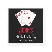 Casino Las Vegas Birthday Personalized Napkin
