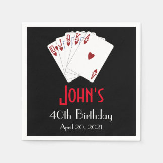 Casino Las Vegas Birthday Personalized Napkin