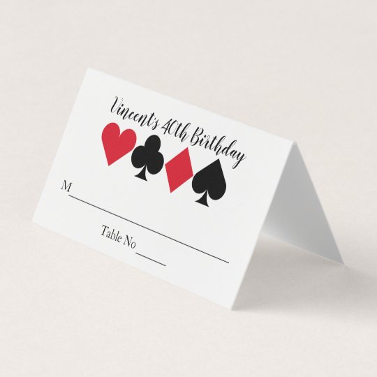 Casino Las Vegas Birthday Personalized Place Card