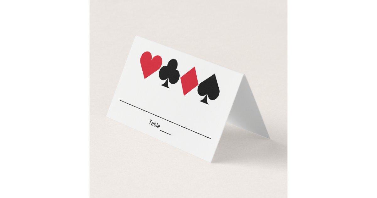 Casino Las Vegas Birthday Personalized Place Card