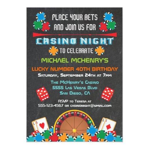 Casino Las Vegas Gambling Party Invitation