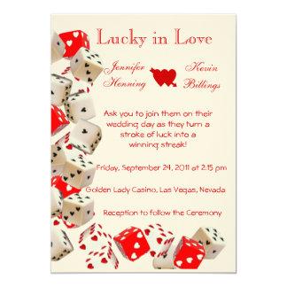 "Casino Las Vegas Wedding invitation announcement 5"" X 7"" Invitation Card"