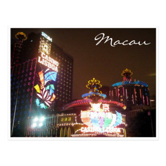 casino lights macau postcards
