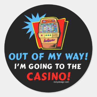 Casino Lovers Classic Round Sticker