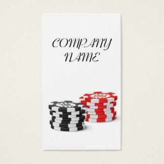 Casino Manager - Dealer Gamble Token Chip Business Card