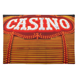 Casino Marquee in Carson City Cloth Placemat