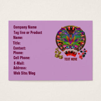 Casino Masquerade Party Business Card